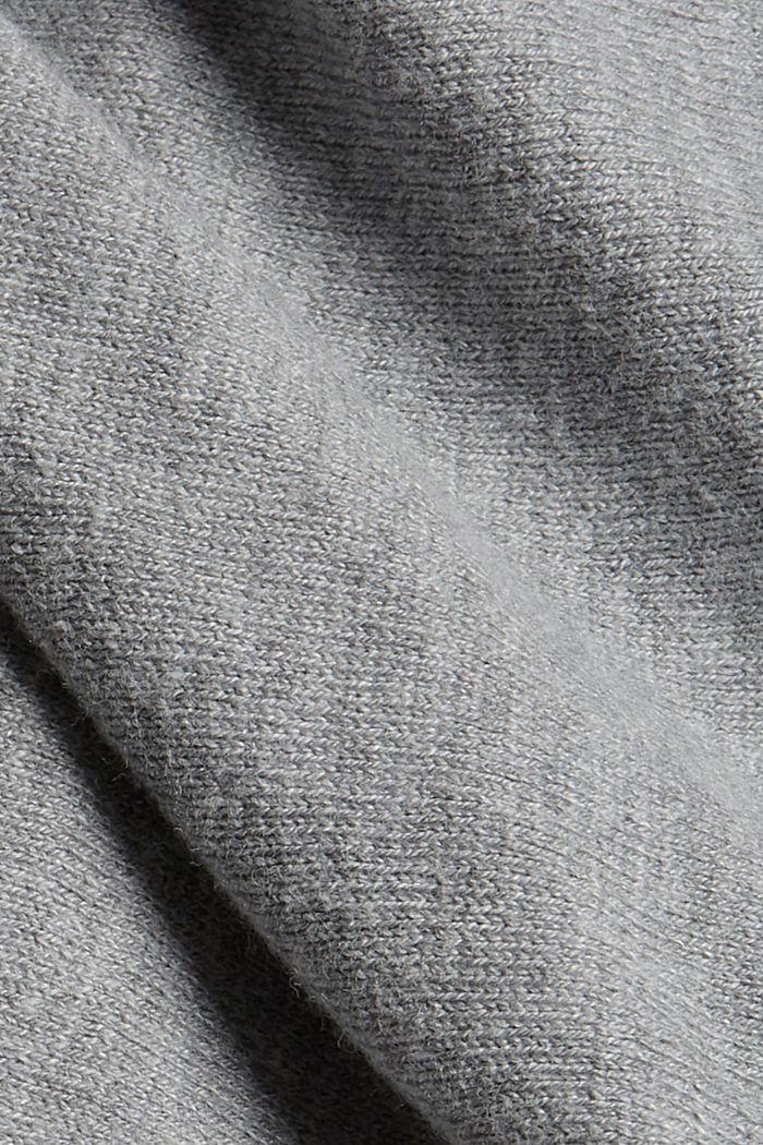 Cárdigan abierto con mangas murciélago, mezcla de algodón ecológico, MEDIUM GREY, detail image number 4
