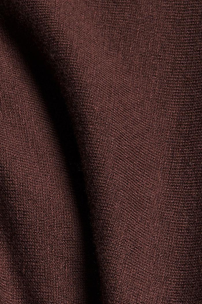Offener Fledermaus-Cardigan, Bio-Baumwoll-Mix, RUST BROWN, detail image number 4