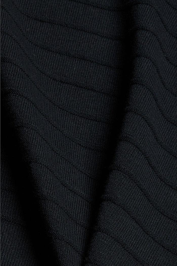 Jersey de punto fino confeccionado en una mezcla de algodón ecológico, BLACK, detail image number 4