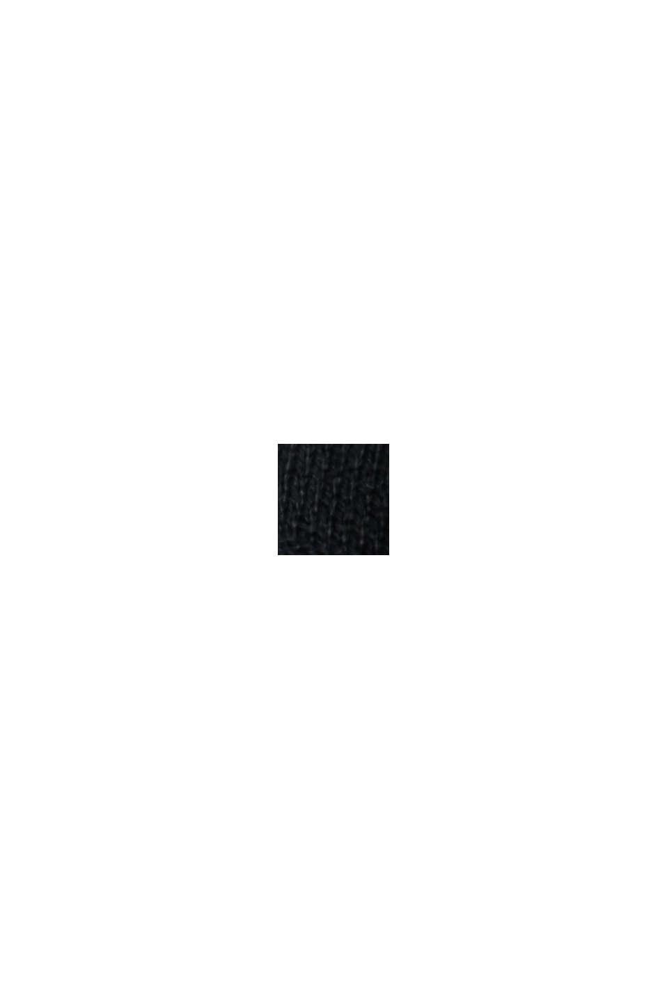 Pullover i finmasket strik af økologisk bomuldsblanding, BLACK, swatch