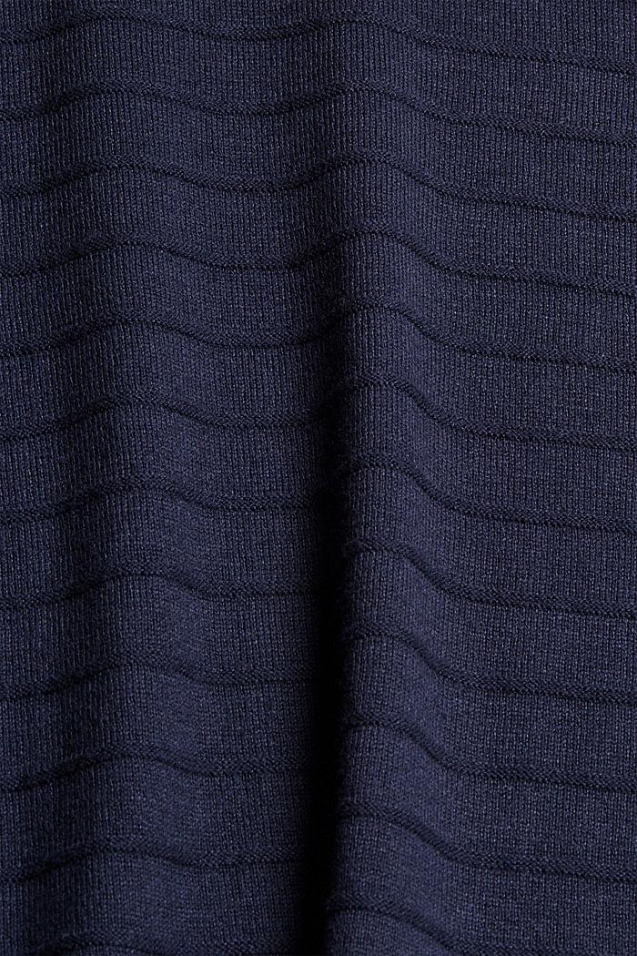 Fine knit jumper made of blended organic cotton, NAVY, detail image number 4