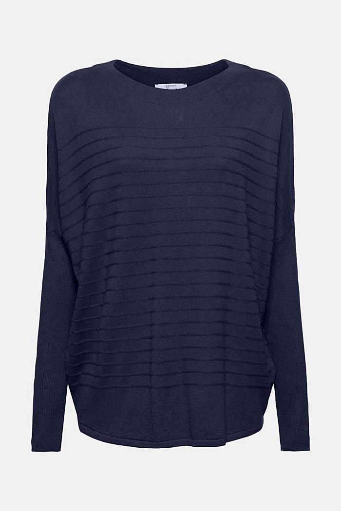 Fine knit jumper made of blended organic cotton, NAVY, detail image number 7
