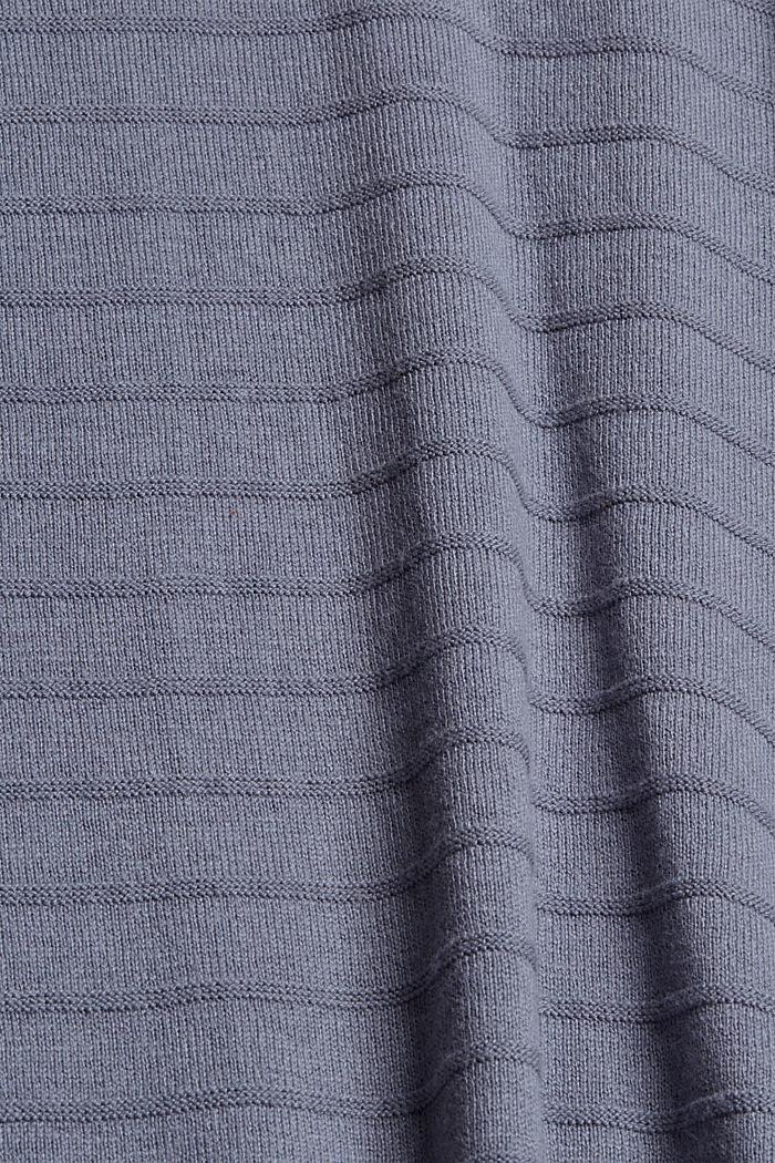 Jersey de punto fino confeccionado en una mezcla de algodón ecológico, GREY BLUE, detail image number 4