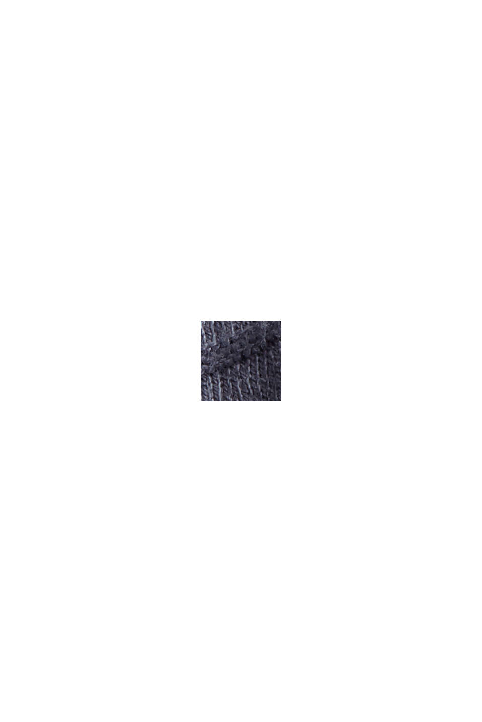 Pullover i finmasket strik af økologisk bomuldsblanding, GREY BLUE, swatch