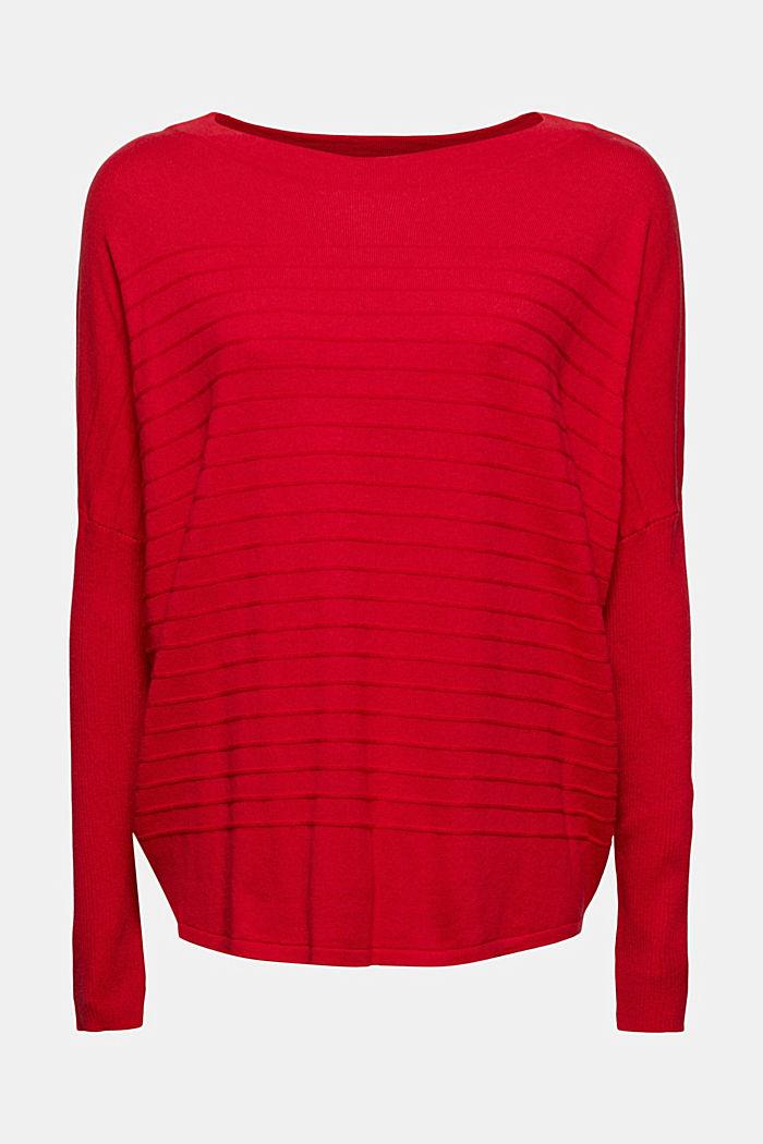 Fine knit jumper made of blended organic cotton, RED, detail image number 6