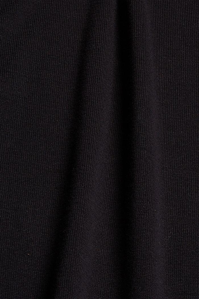 Trui met turtleneck van 100% katoen, BLACK, detail image number 4