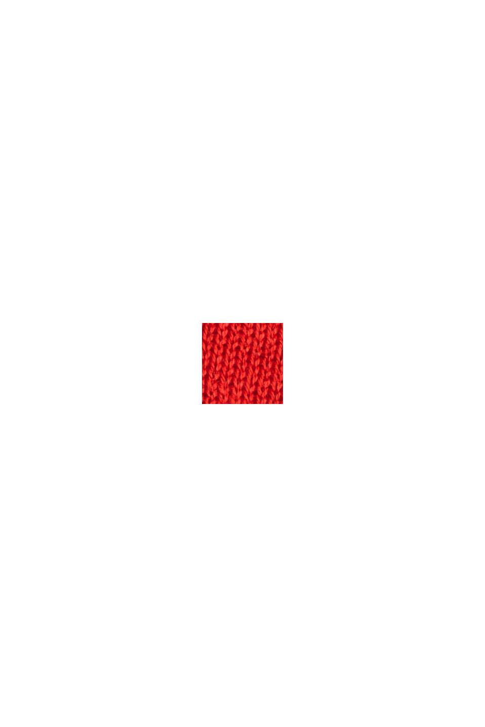 Poolokaulusneule 100 % puuvillaa, RED, swatch