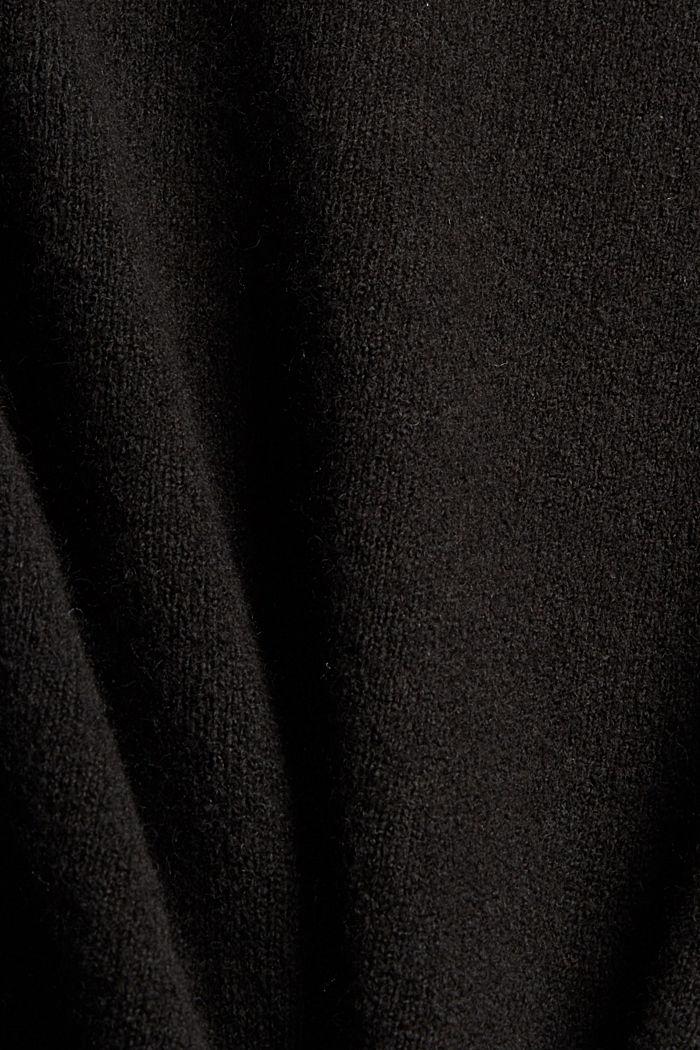 Mit Wolle: Pullunder mit High-Low-Saum, BLACK, detail image number 4