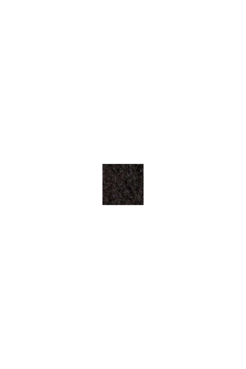 À teneur en laine: le débardeur à base plus longue au dos, BLACK, swatch