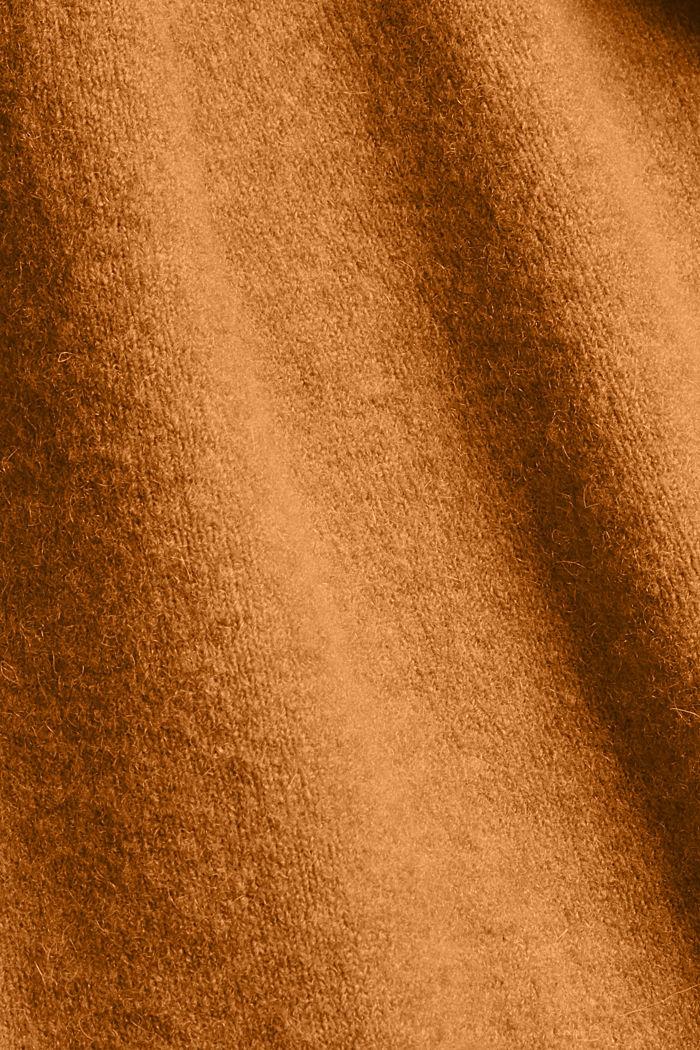 À teneur en laine: le débardeur à base plus longue au dos, CAMEL, detail image number 4