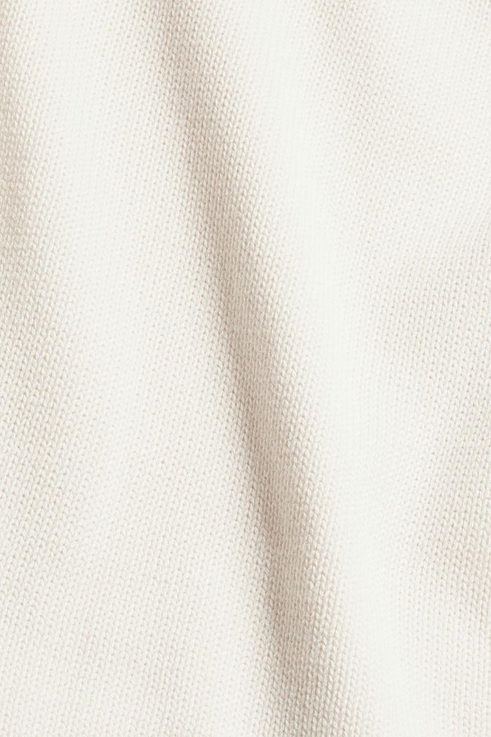 Pullover mit Rollkanten, 100% Bio-Baumwolle, OFF WHITE, detail image number 4