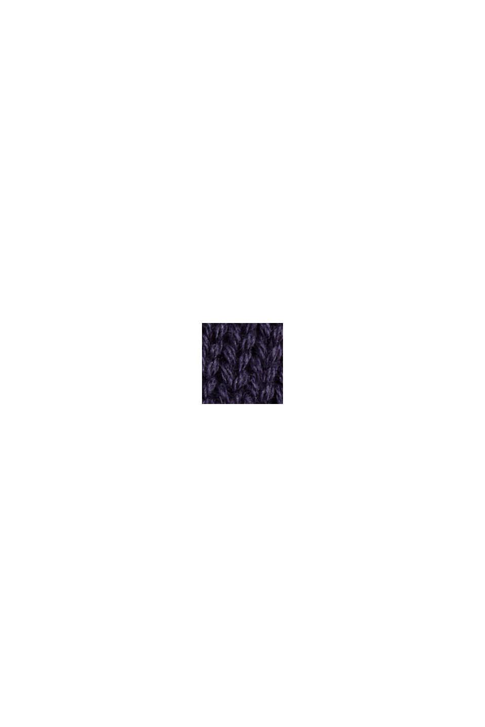 Pullover med rullekanter, 100% økologisk bomuld, NAVY, swatch