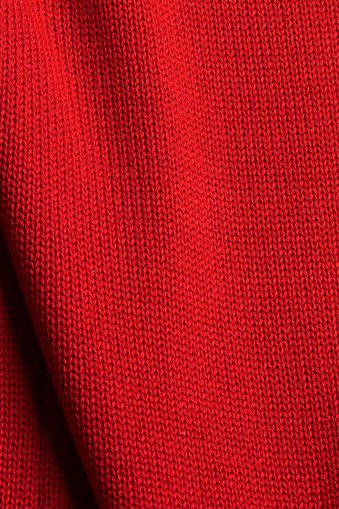 Pullover mit Rollkanten, 100% Bio-Baumwolle, RED, detail image number 4