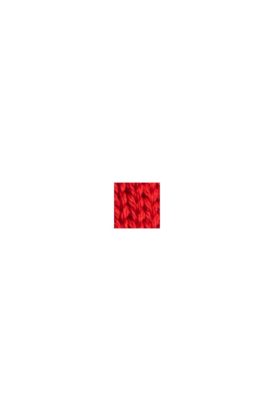 Pullover med rullekanter, 100% økologisk bomuld, RED, swatch