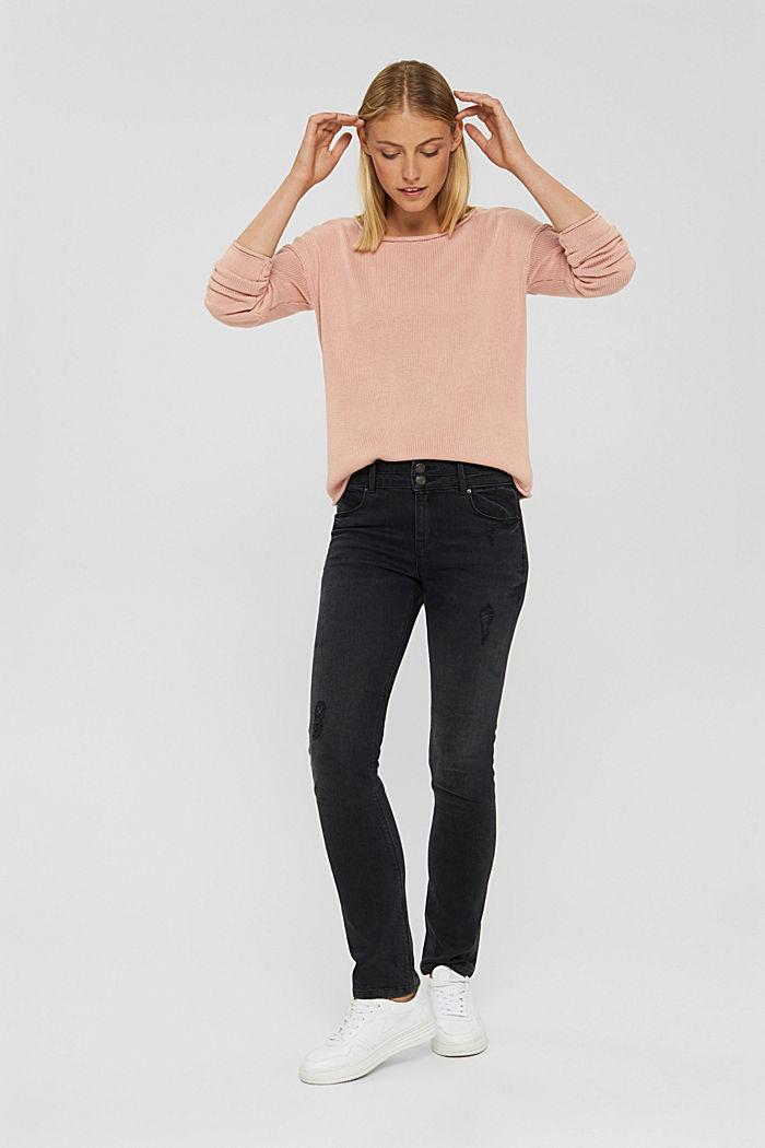 Pullover mit Rollkanten, 100% Bio-Baumwolle, OLD PINK, detail image number 1