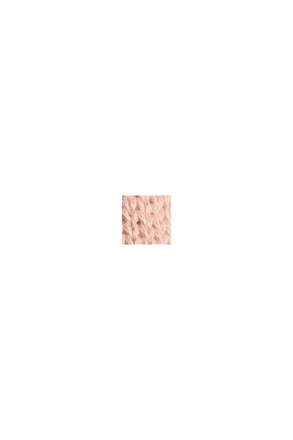 Pullover med rullekanter, 100% økologisk bomuld, OLD PINK, swatch