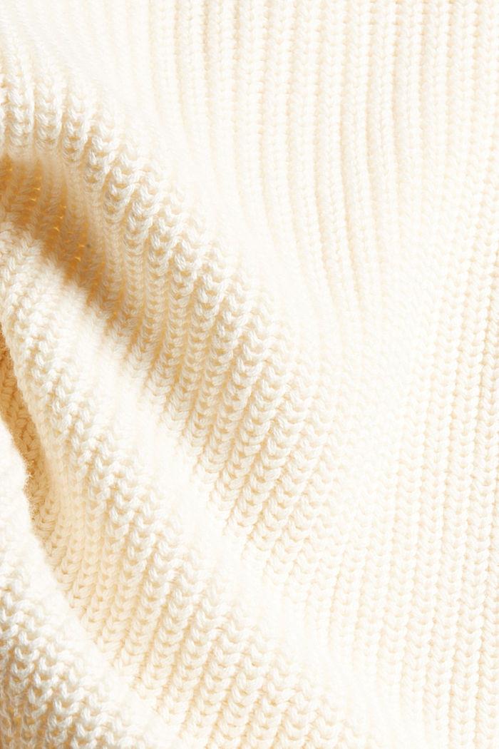 Rippstrick-Cardigan aus 100% Bio-Baumwolle, OFF WHITE, detail image number 4