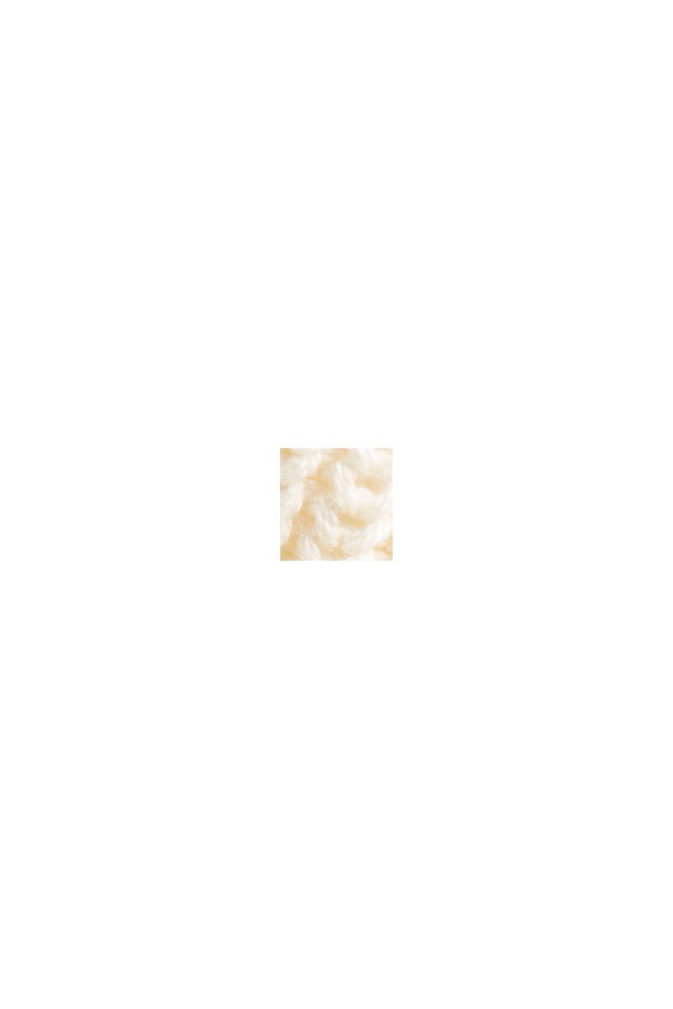 Rippstrick-Cardigan aus 100% Bio-Baumwolle, OFF WHITE, swatch