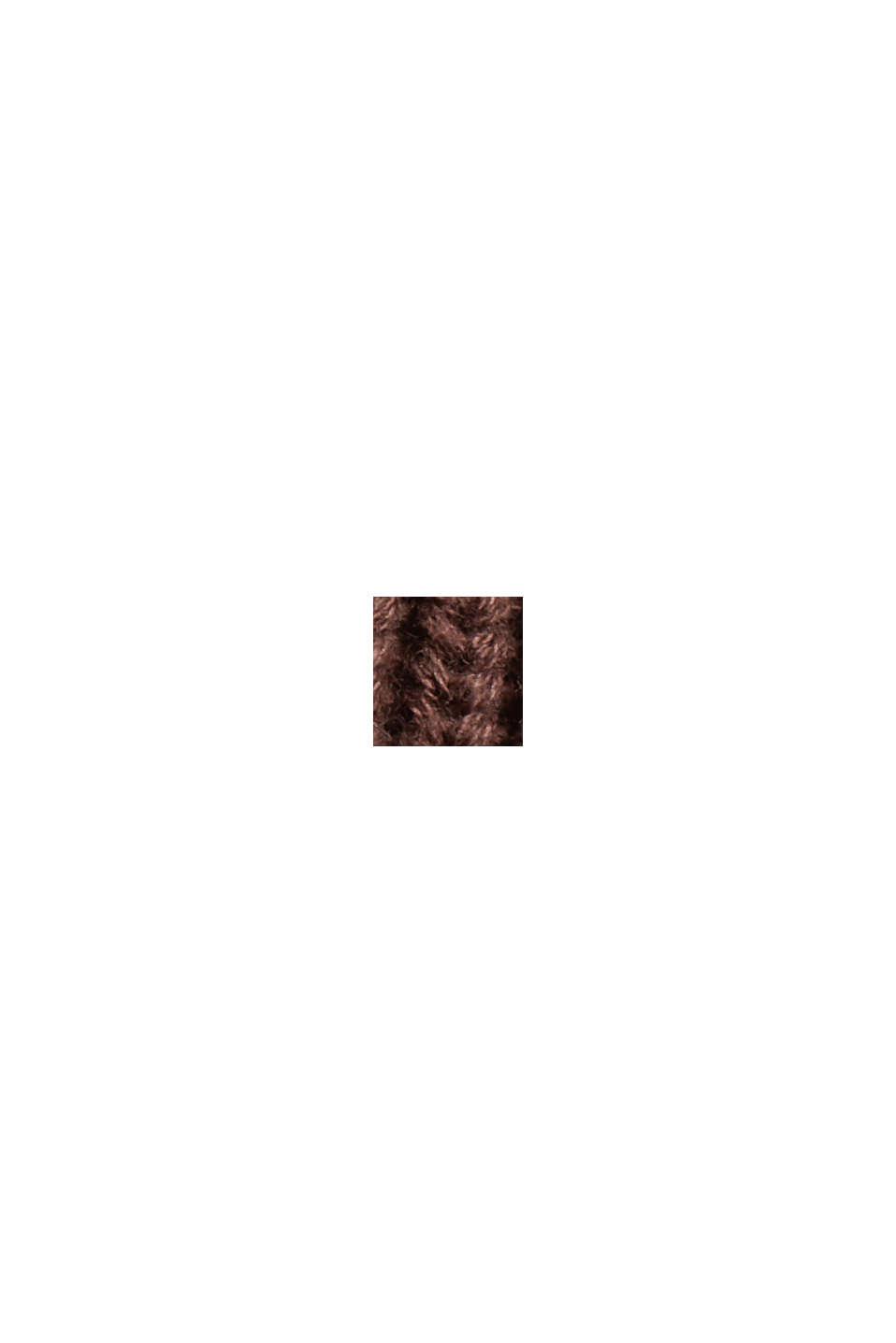 Rippstrick-Cardigan aus 100% Bio-Baumwolle, RUST BROWN, swatch