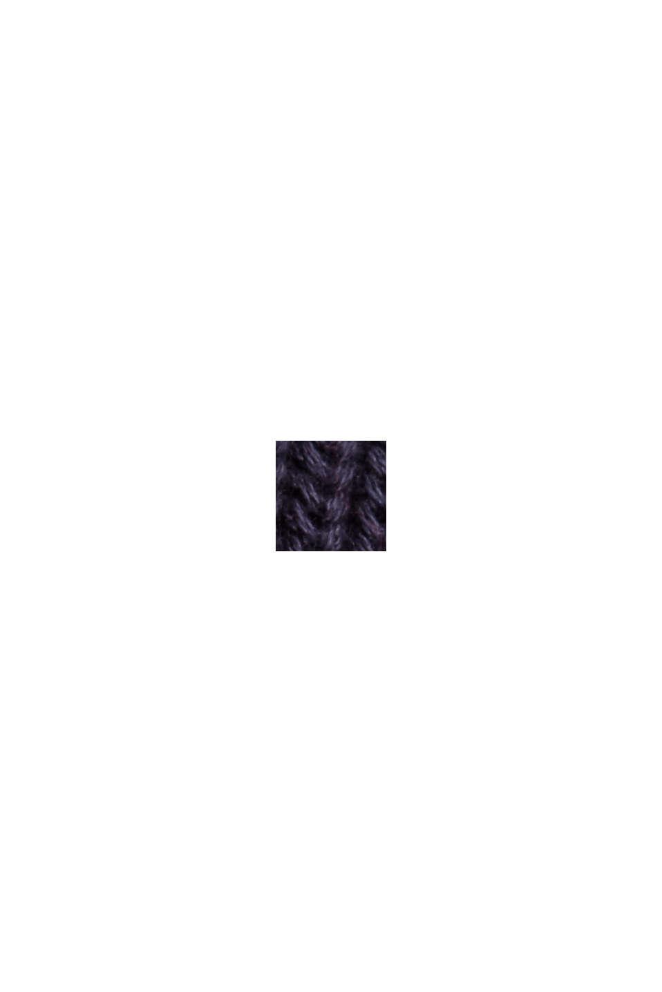 Rippstrick-Cardigan aus 100% Bio-Baumwolle, NAVY, swatch