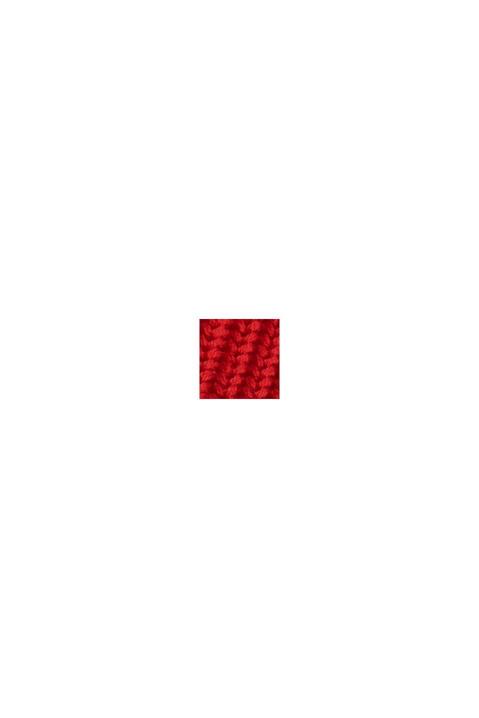 Rippstrick-Cardigan aus 100% Bio-Baumwolle, RED, swatch