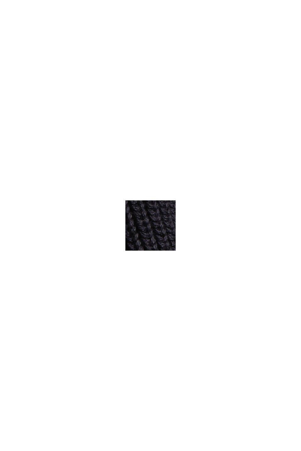 Stehkragen-Pullover aus 100% Bio-Baumwolle, BLACK, swatch