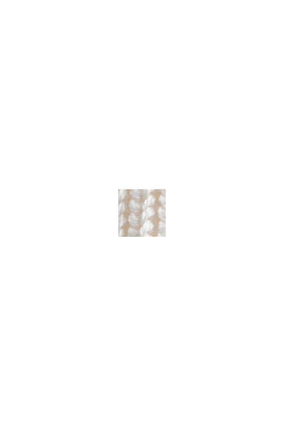 Stehkragen-Pullover aus 100% Bio-Baumwolle, OFF WHITE, swatch