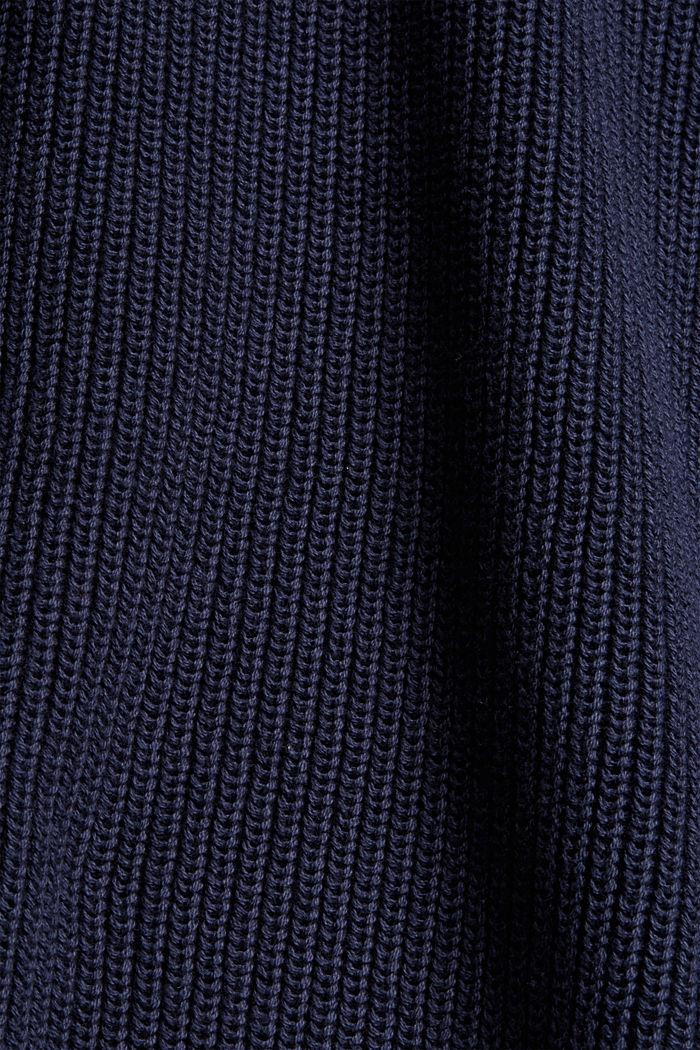 Stehkragen-Pullover aus 100% Bio-Baumwolle, NAVY, detail image number 4