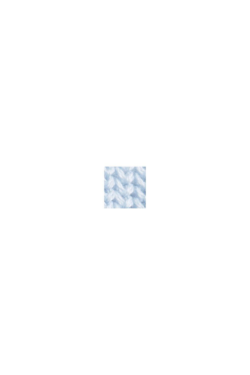 Stehkragen-Pullover aus 100% Bio-Baumwolle, PASTEL BLUE, swatch
