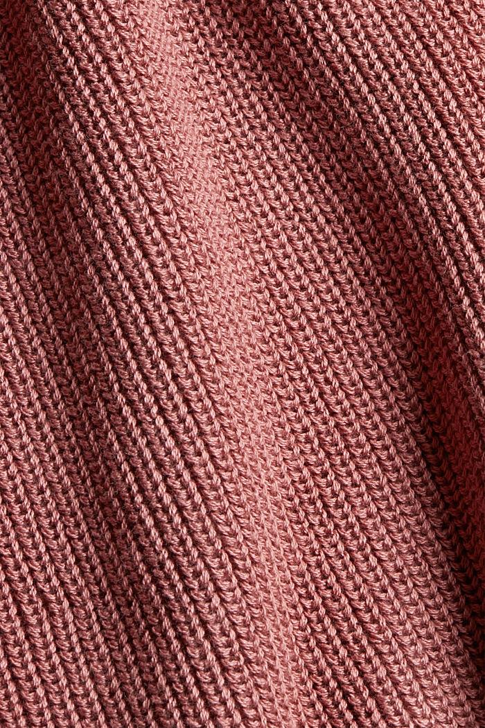 Stehkragen-Pullover aus 100% Bio-Baumwolle, DARK OLD PINK, detail image number 4