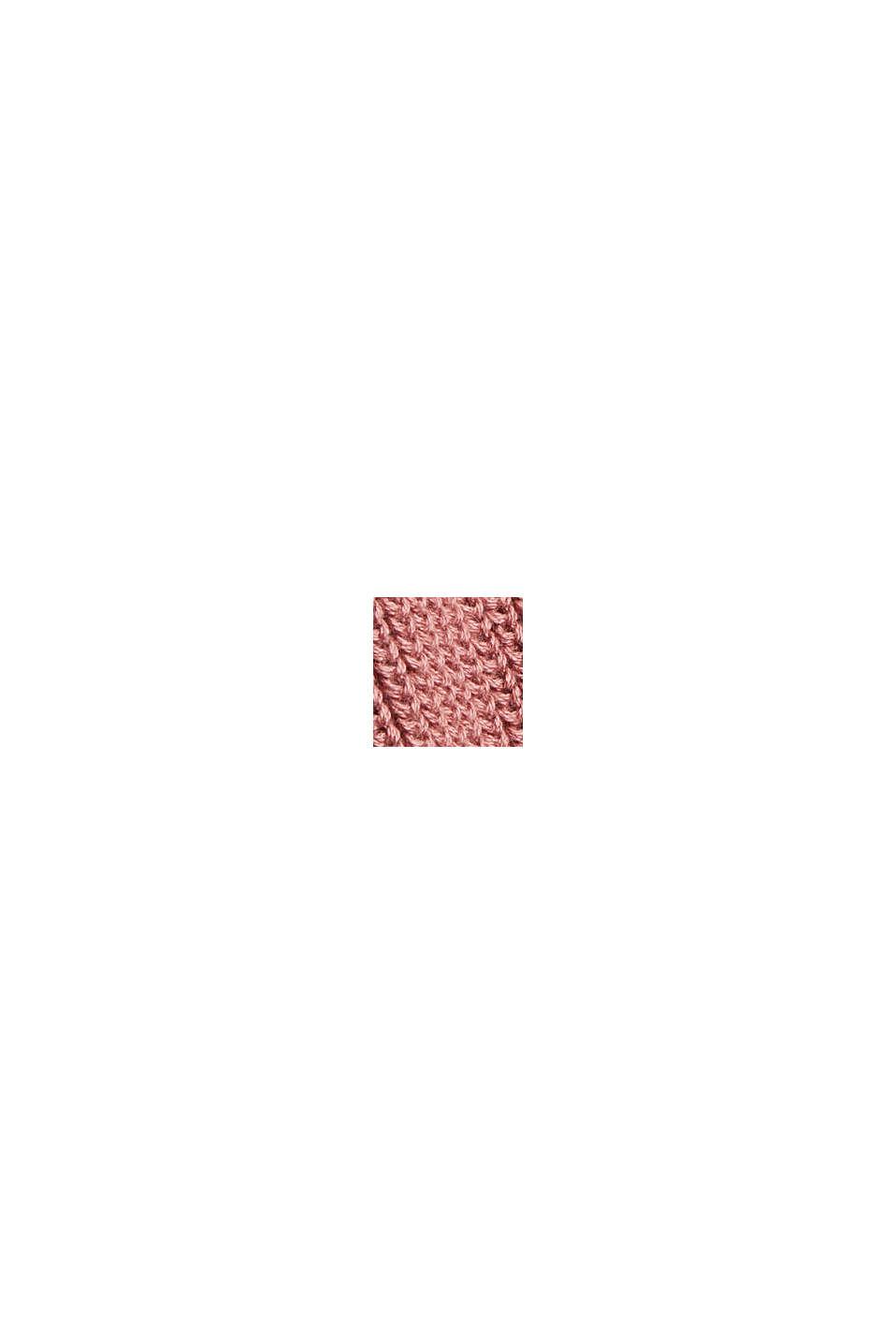 Stehkragen-Pullover aus 100% Bio-Baumwolle, DARK OLD PINK, swatch