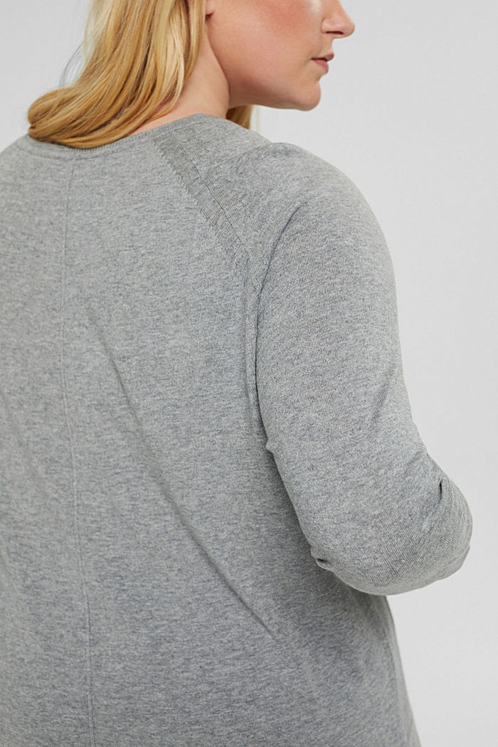 CURVY Pullover aus 100% Pima-Baumwolle, MEDIUM GREY, detail image number 2