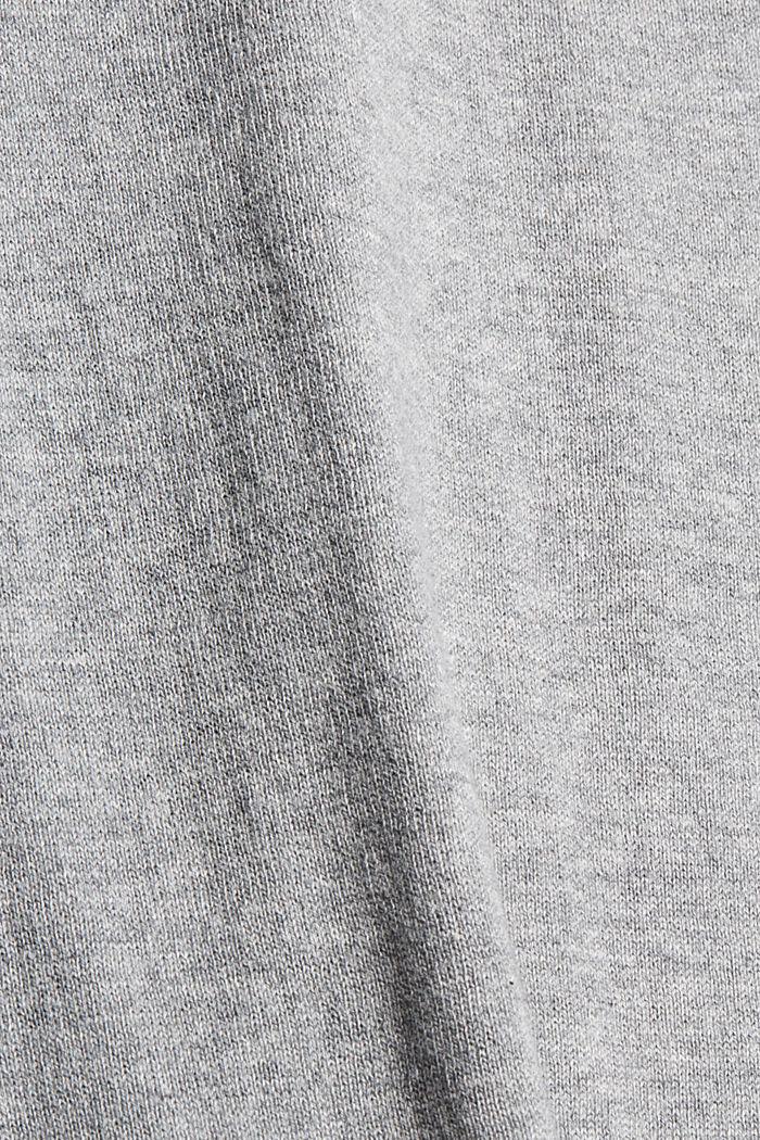 CURVY Pullover aus 100% Pima-Baumwolle, MEDIUM GREY, detail image number 4