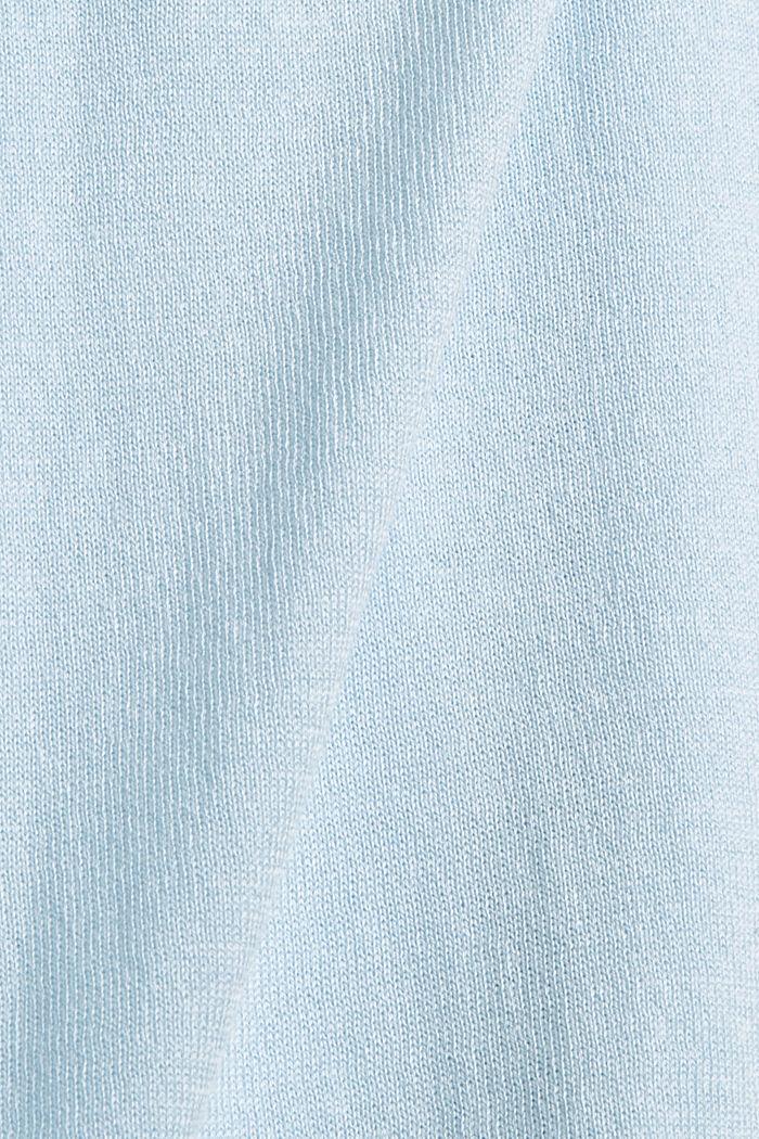 CURVY Pullover aus 100% Pima-Baumwolle, PASTEL BLUE, detail image number 4