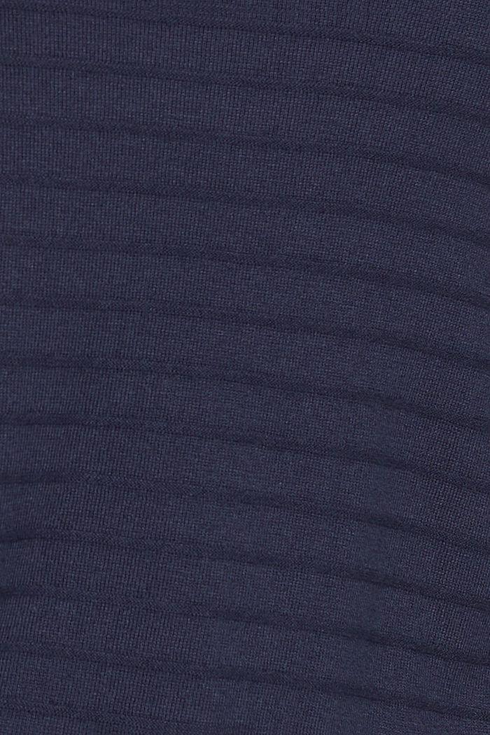 CURVY Streifen-Pullover aus Bio-Baumwoll-Mix, NAVY, detail image number 4