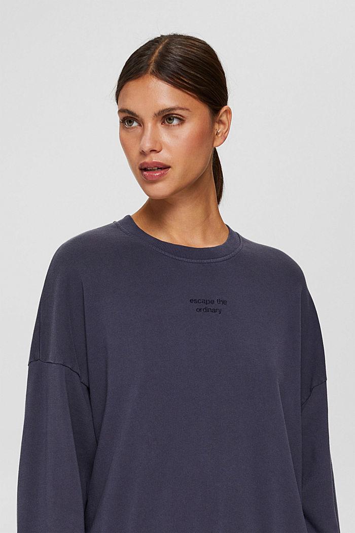 Sweatshirt made of 100% organic cotton, NAVY, detail image number 0