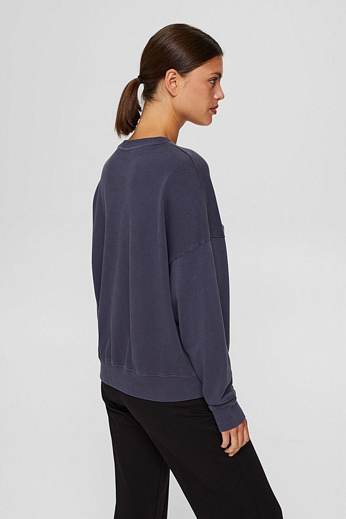Sweatshirt made of 100% organic cotton, NAVY, detail image number 3