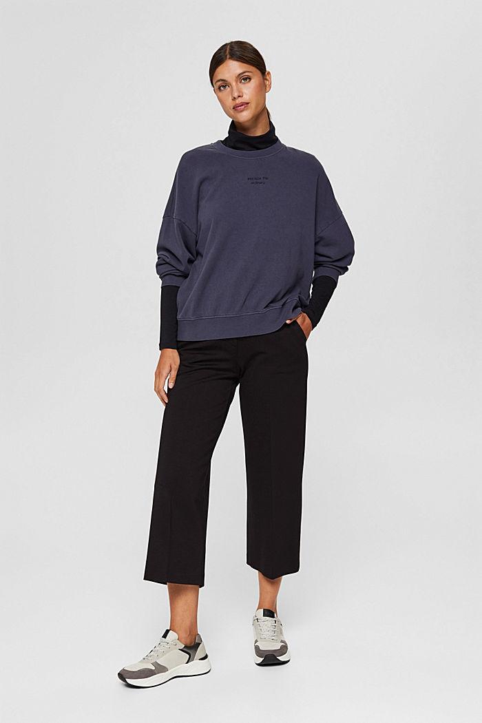 Sweatshirt made of 100% organic cotton, NAVY, detail image number 1