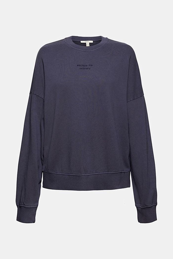 Sweatshirt made of 100% organic cotton, NAVY, detail image number 5