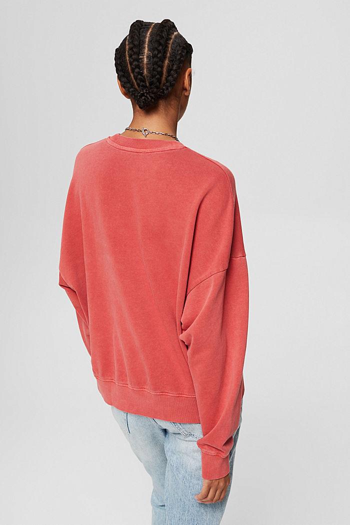 Sweatshirt made of 100% organic cotton, RED, detail image number 3