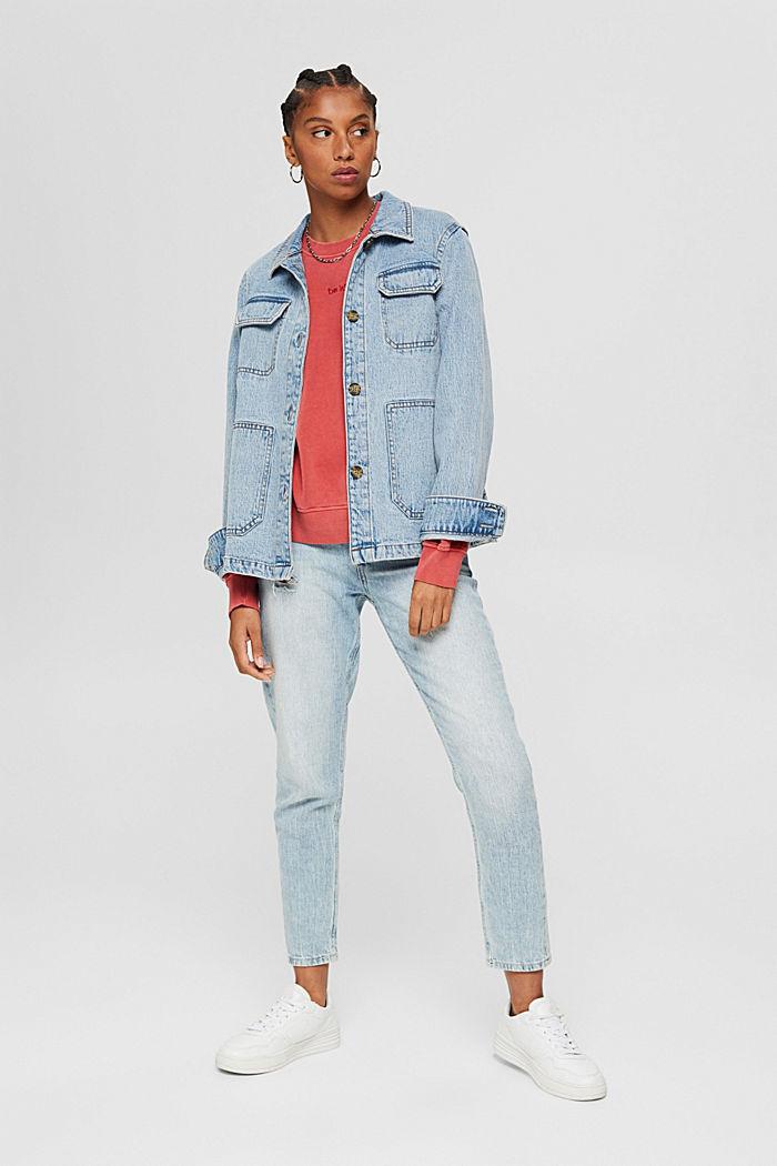 Sweatshirt made of 100% organic cotton, RED, detail image number 1