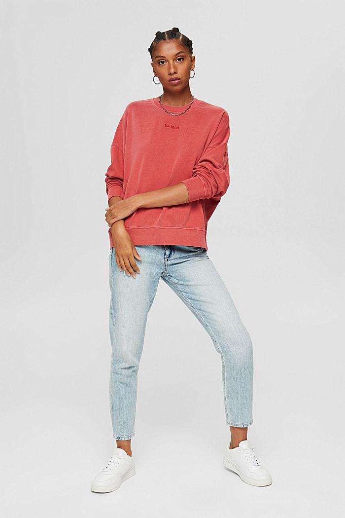 Sweatshirt made of 100% organic cotton, RED, detail image number 6