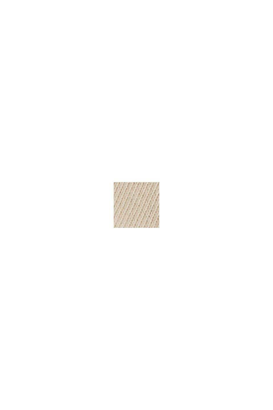 Sudadera de bajo irregular en 100% algodón ecológico, SAND, swatch