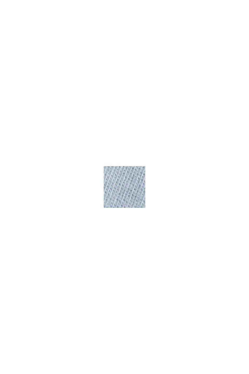 Sudadera de bajo irregular en 100% algodón ecológico, PASTEL BLUE, swatch