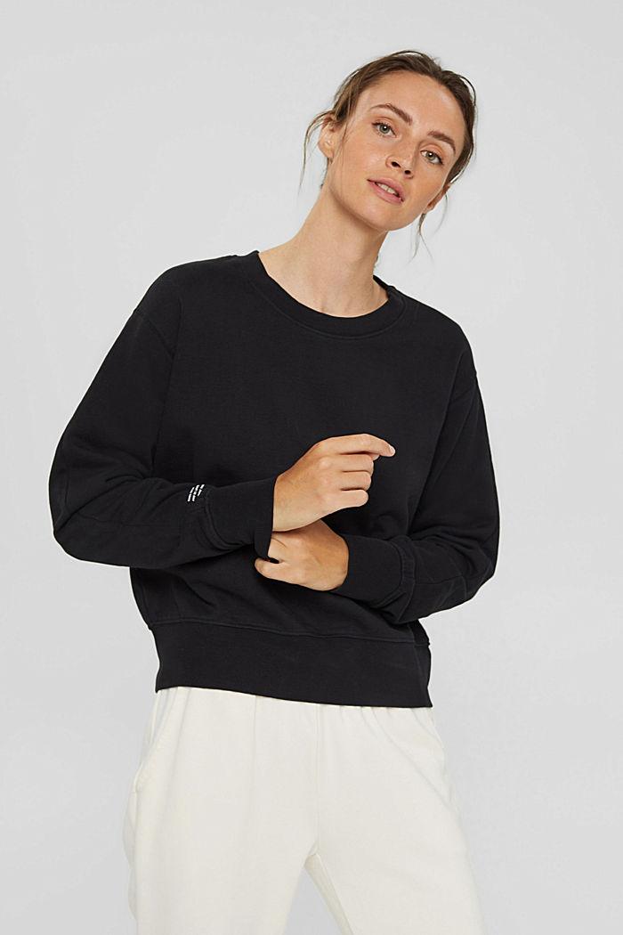 Sweatshirt aus 100% Organic Cotton, BLACK, detail image number 0