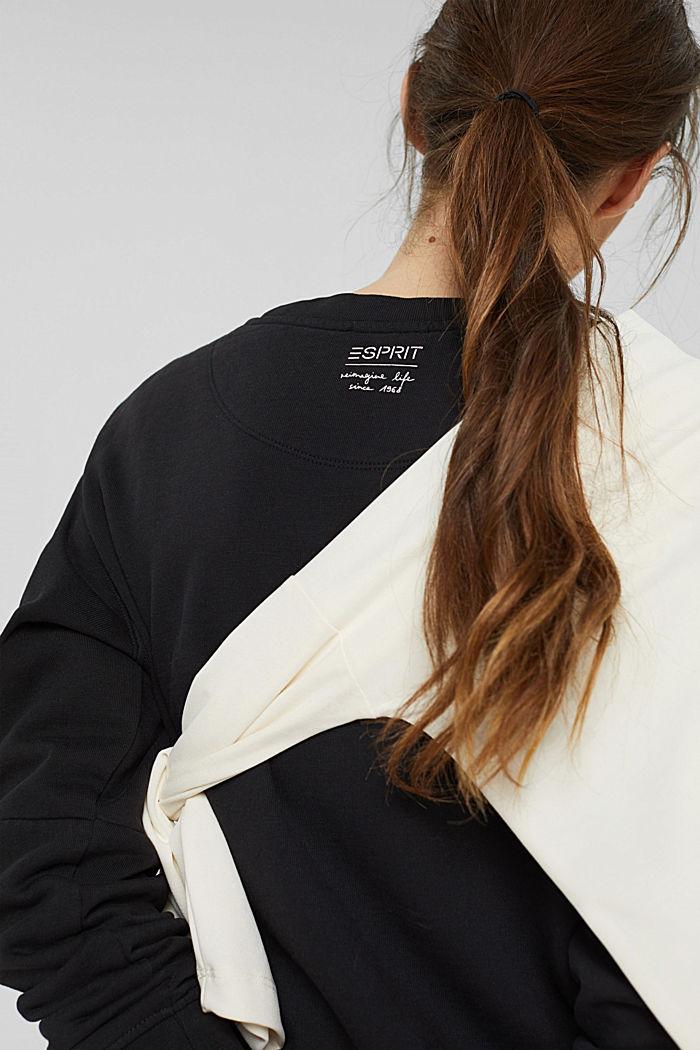 Sweatshirt aus 100% Organic Cotton, BLACK, detail image number 2