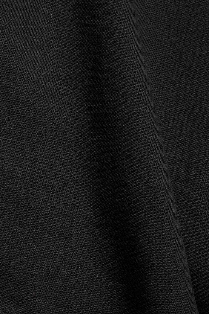 Sweatshirt aus 100% Organic Cotton, BLACK, detail image number 4