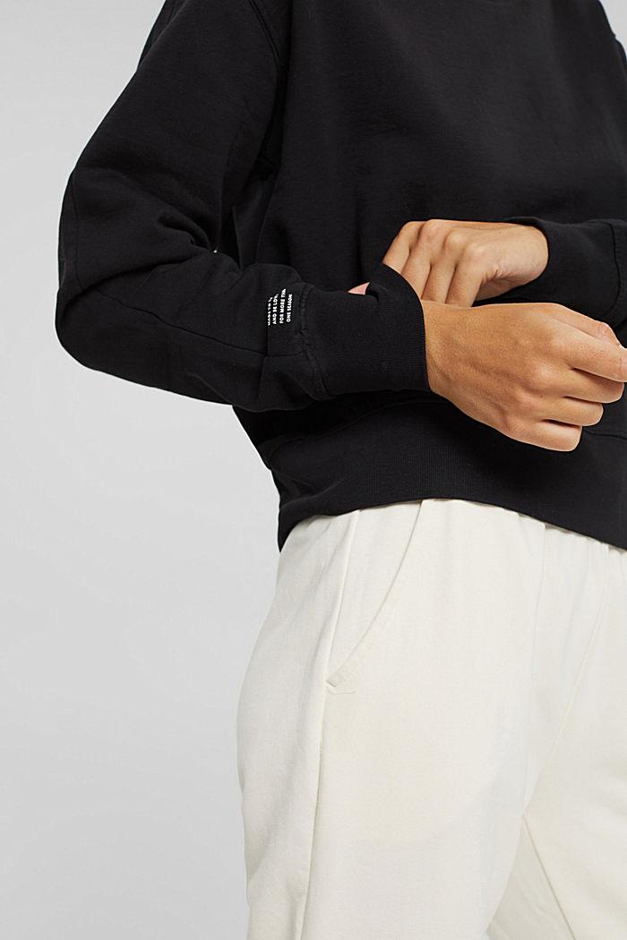 Sweatshirt aus 100% Organic Cotton, BLACK, detail image number 5