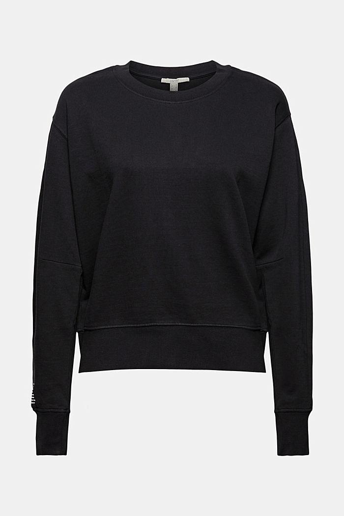 Sweatshirt aus 100% Organic Cotton, BLACK, detail image number 6