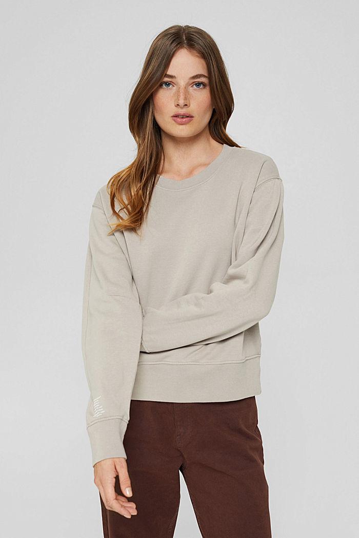 Sweatshirt made of 100% organic cotton, LIGHT TAUPE, detail image number 0